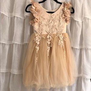 ***Beautiful Champagne Girl's Dress***